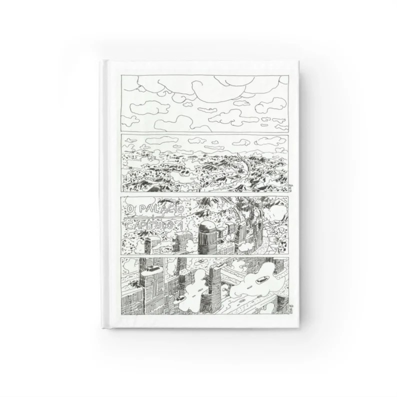 Blank Journal With Urban Art Cover 53  Retro custom gift image 0