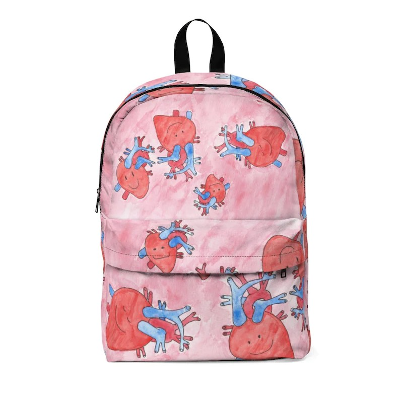 Urban Art Large Backpack 3  Retro custom gift  backpacks image 0