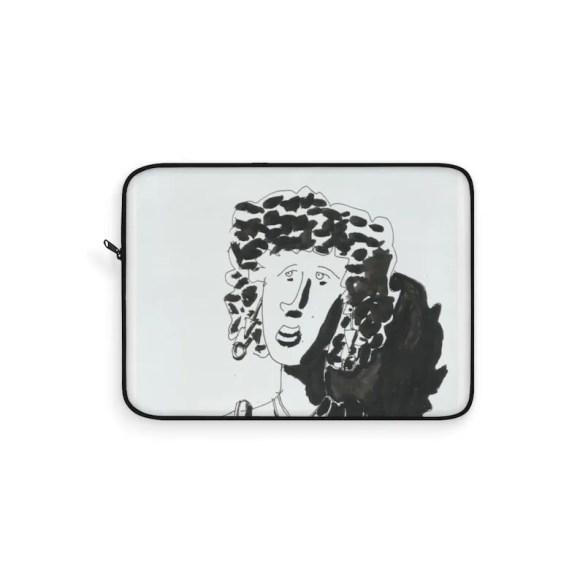 Urban Art Laptop Sleeve 20  Retro custom gift line art pop image 0
