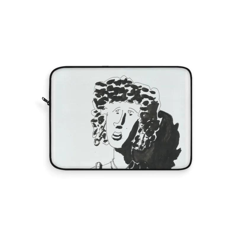 Cool Art Laptop Sleeve 20  Retro custom gift line art pop image 0