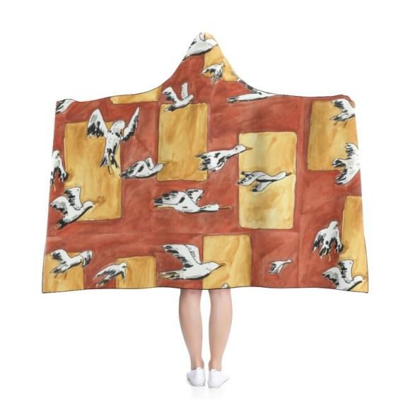 Urban Art Hooded Blanket 3  Retro custom gift pop art line image 0