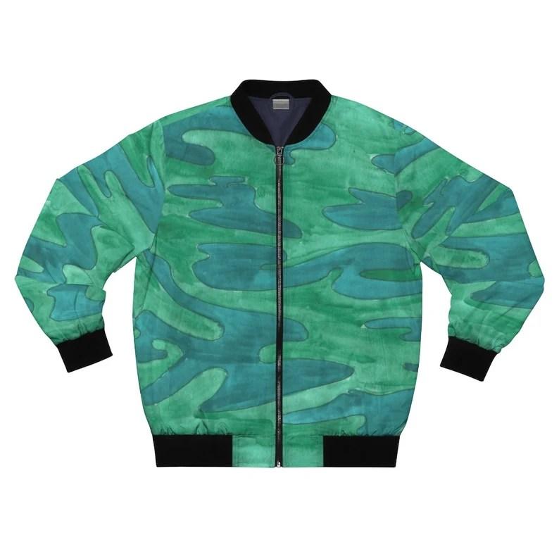 Cool Art Bomber Jacket 7  Retro custom gift aesthetic line image 0