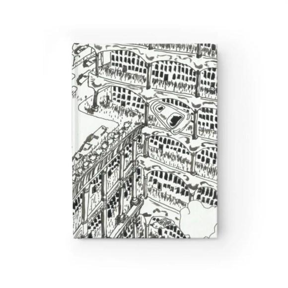 Blank Journal With Urban Art Cover 38  Retro custom gift image 0