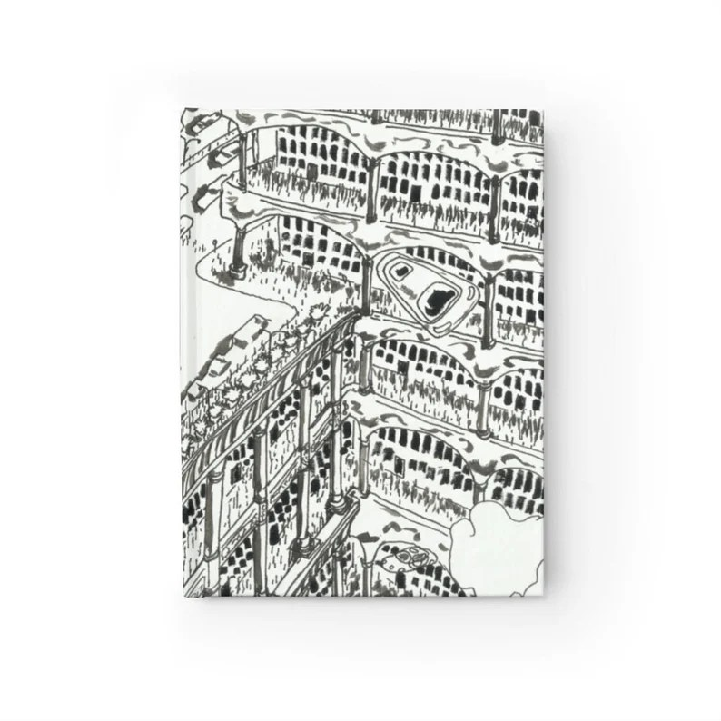 Blank Journal With Cool Art Cover 38  Retro custom gift image 0