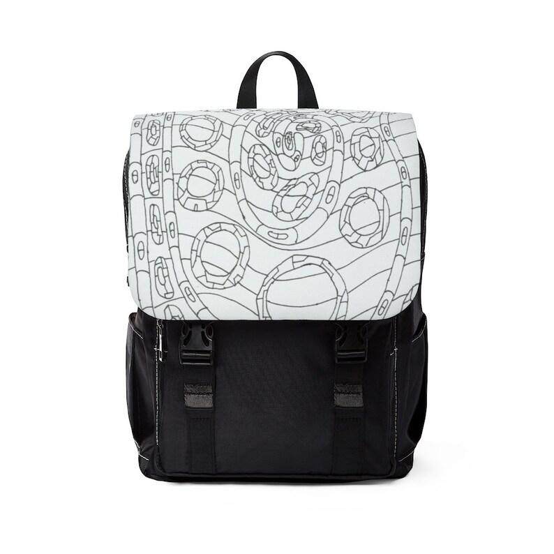 Urban Art Canvas Mini Backpack 18  Retro custom gift image 0