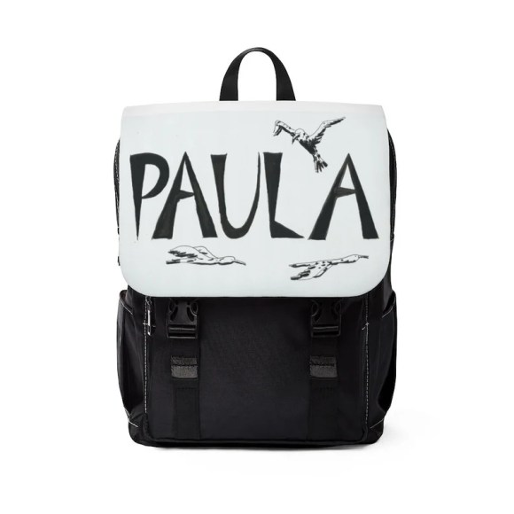 Personalized Cool Art Canvas Mini Backpack  Retro custom gift image 0