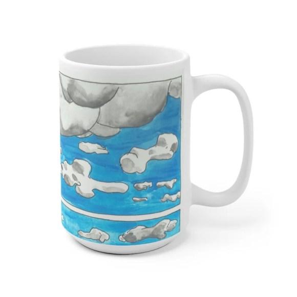 Urban Art Mug 2 sizes 75  Retro custom gift unique mugs image 0