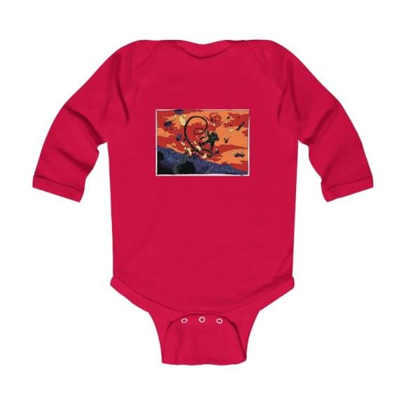 Urban Art Baby Onesie 3  Retro custom gift gender neutral image 0