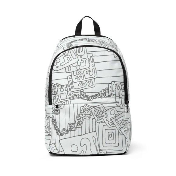Urban Art Mid-sized Backpack 17  Retro custom gift image 0