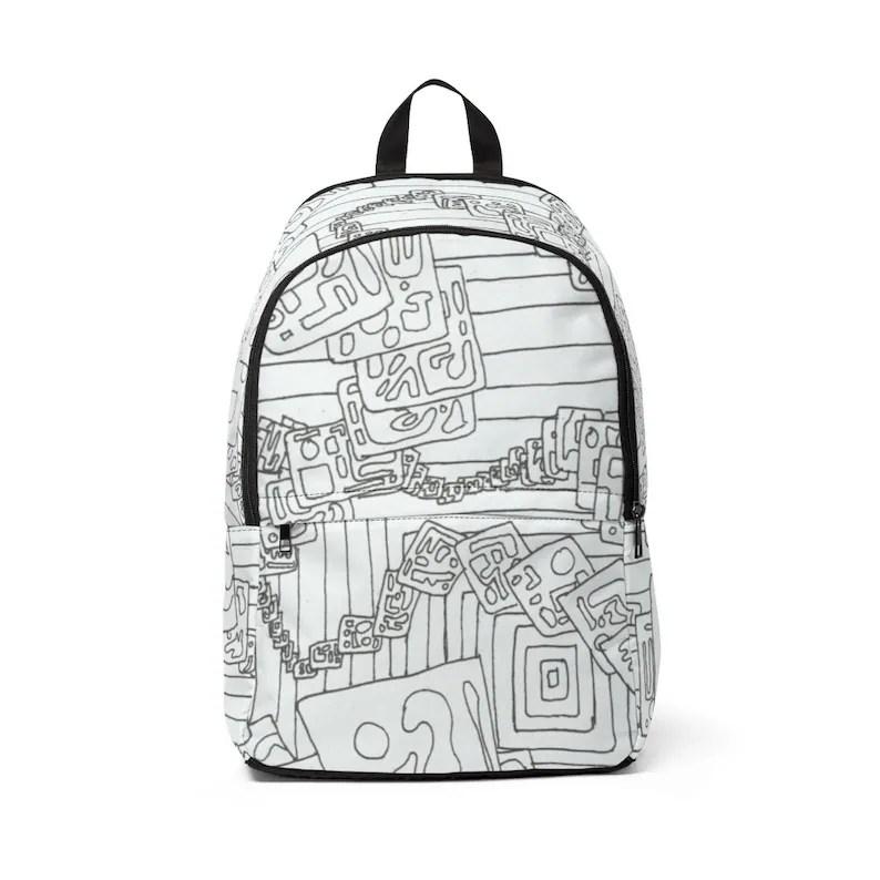 Cool Art Mid-sized Backpack 17  Retro custom gift  backpacks image 0