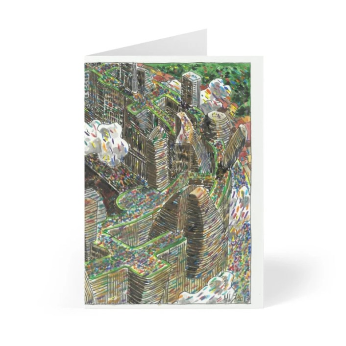 Handmade Urban Art Cards With Envelopes 13  Retro custom gift image 0