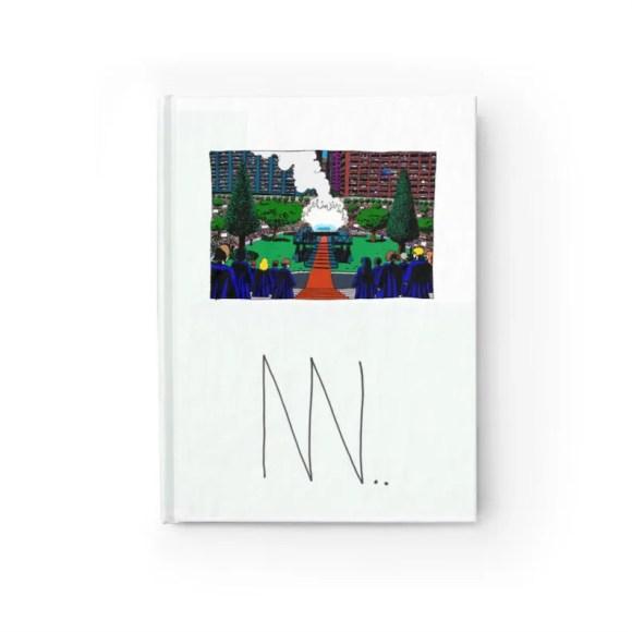 Blank Journal With Urban Art Cover 6  Retro custom gift image 0