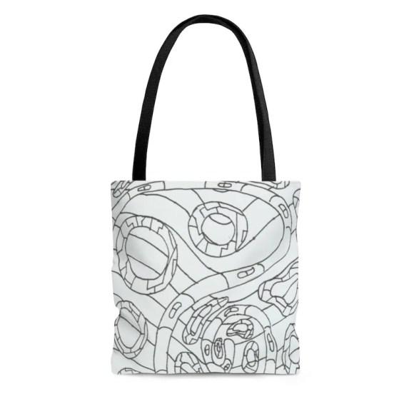 Cool Art Tote Bag 3 sizes 11  Retro custom gift aesthetic image 0