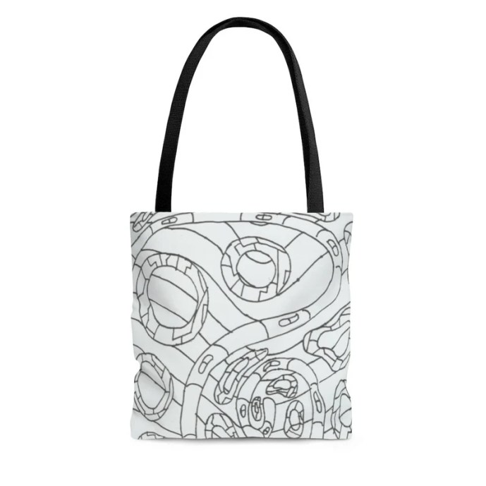 Cool Art Tote Bag 3 sizes 11  Retro custom gift aesthetic image 0