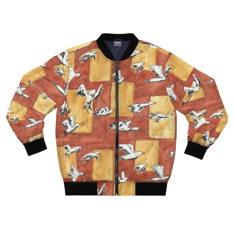 Urban Art Bomber Jacket 3  Retro custom gift aesthetic line image 0