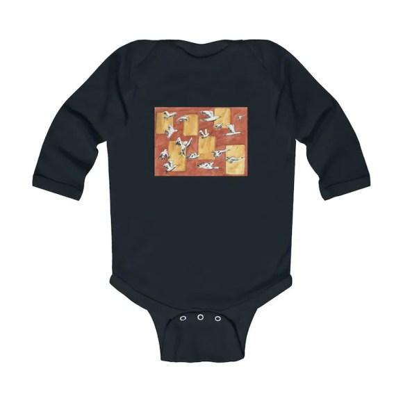 Urban Art Baby Onesie 8  Retro custom gift gender neutral image 0