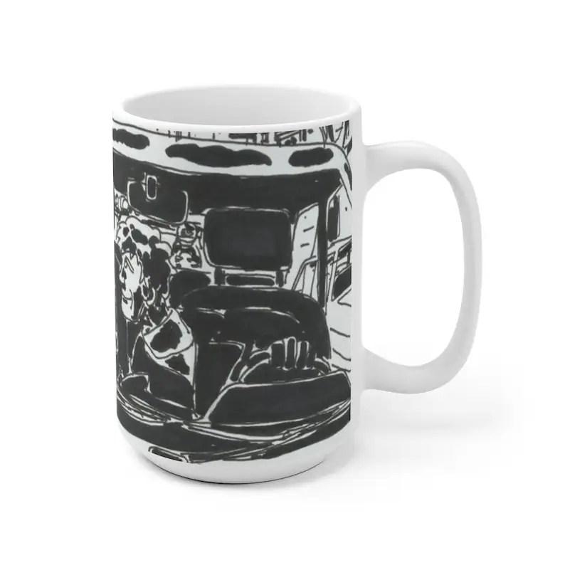 Cool Art Mug 2 sizes 82  Retro custom gift unique mugs with image 0