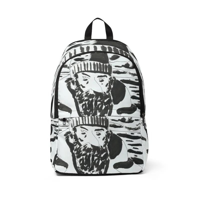 Urban Art Mid-sized Backpack 9  Retro custom gift  backpacks image 0