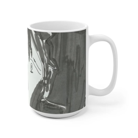Urban Art Mug 2 sizes 27  Retro custom gift unique mugs image 0