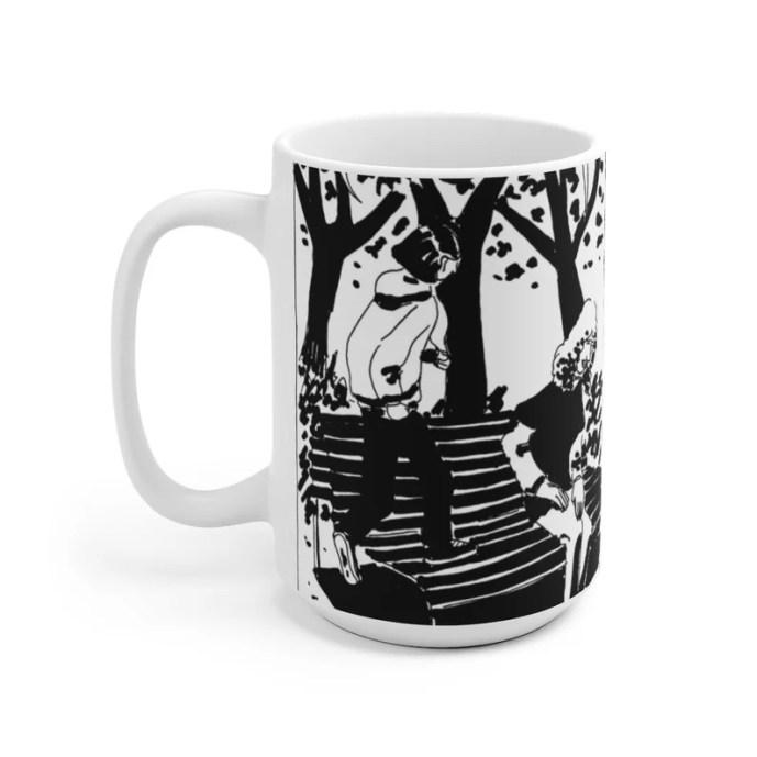 Cool Art Mug 2 sizes 4  Retro custom gift unique mugs with image 0
