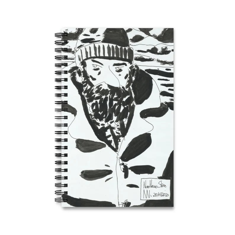 Spiral Journal With Urban Art Cover 11  Retro custom gift image 0