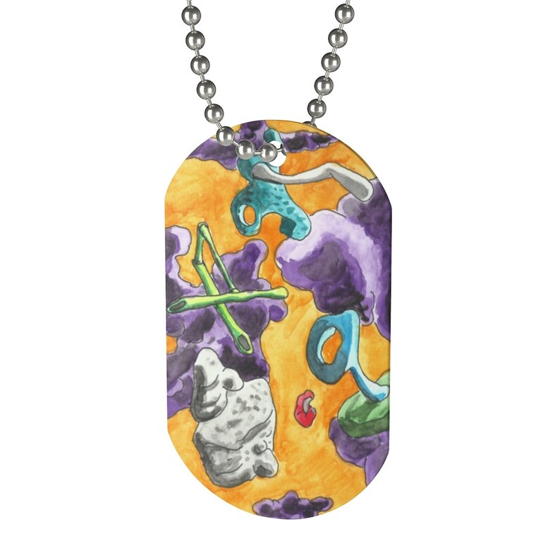 Cool Art Dog Tag 9  Retro custom gift pop art line art image 0