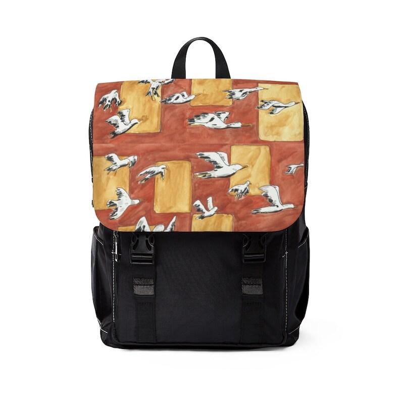 Urban Art Canvas Mini Backpack 8  Retro custom gift image 0