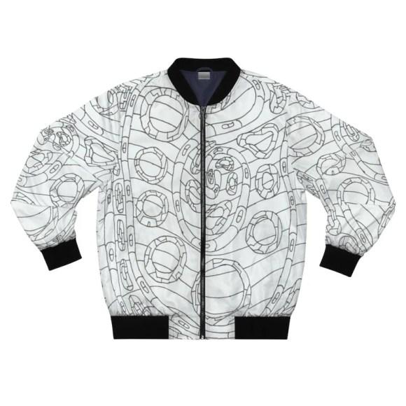 Urban Art Bomber Jacket 11  Retro custom gift aesthetic line image 0