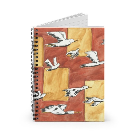 Ruled Line Spiral Notebook With Cool Art Cover 13  Retro image 0