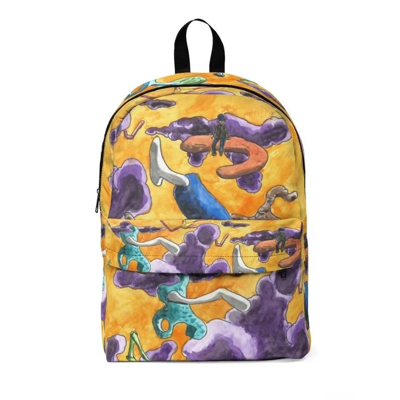 Urban Art Large Backpack 2  Retro custom gift  backpacks image 0
