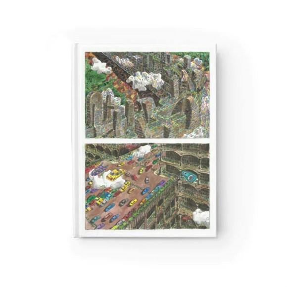 Blank Journal With Urban Art Cover 52  Retro custom gift image 0