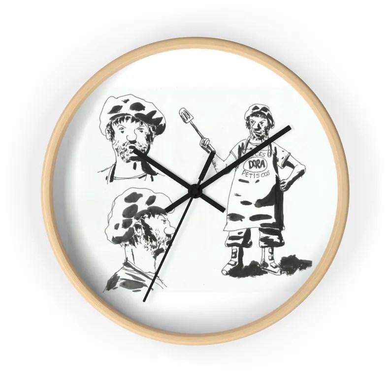 Urban Art Wall Clock 15  Retro custom gift designer image 0