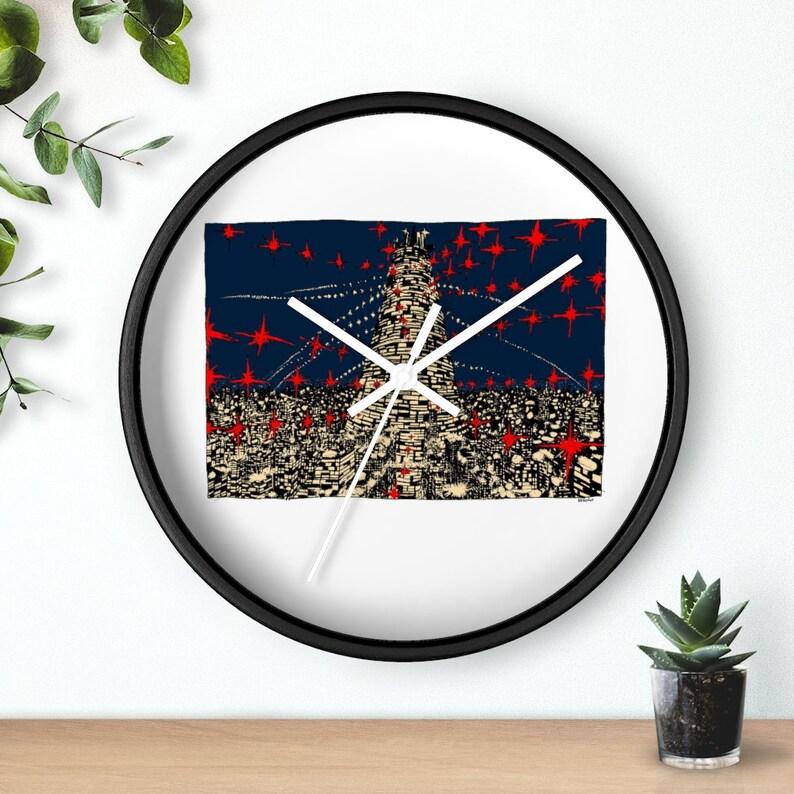 Urban Art Wall Clock 1  Retro custom gift designer image 0
