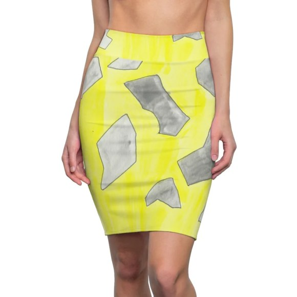 Urban Art Pencil Skirt 11  Retro custom gift  skirts image 0