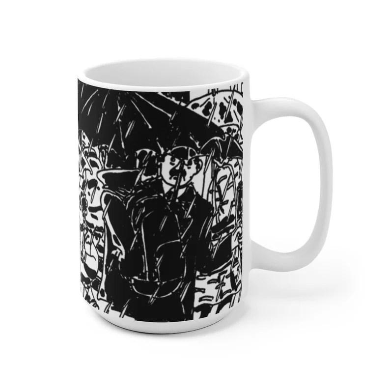 Urban Art Mug 2 sizes 47  Retro custom gift unique mugs image 0