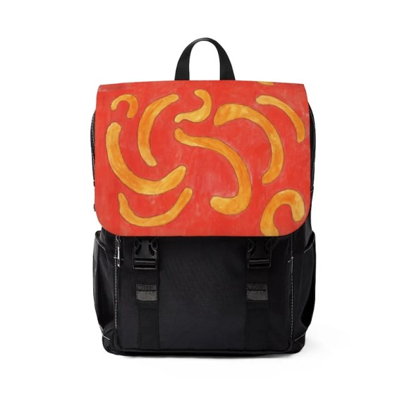 Urban Art Canvas Mini Backpack 16  Retro custom gift image 0