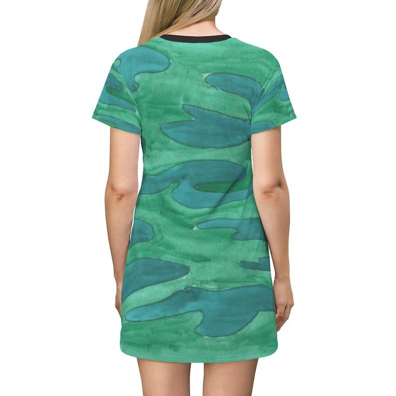 Cool Art T-Shirt Dress 7  Retro custom gift petite plus size image 0