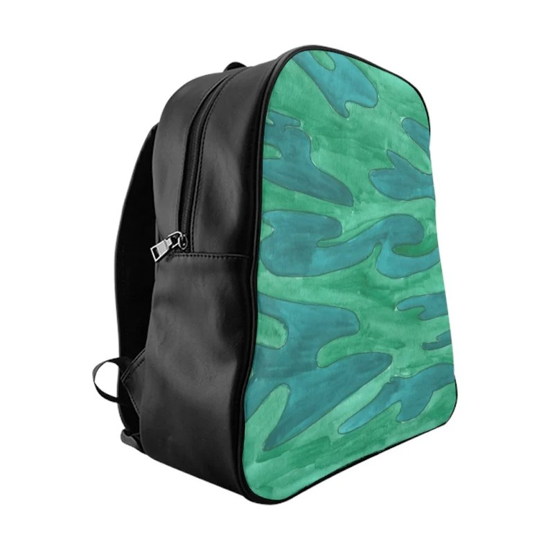 Urban Art PU Leather Backpack 3 sizes 11  Retro custom gift image 0