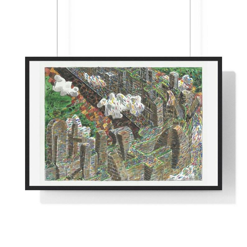 Urban Art Framed Poster 45  Retro custom gift urban pop image 0
