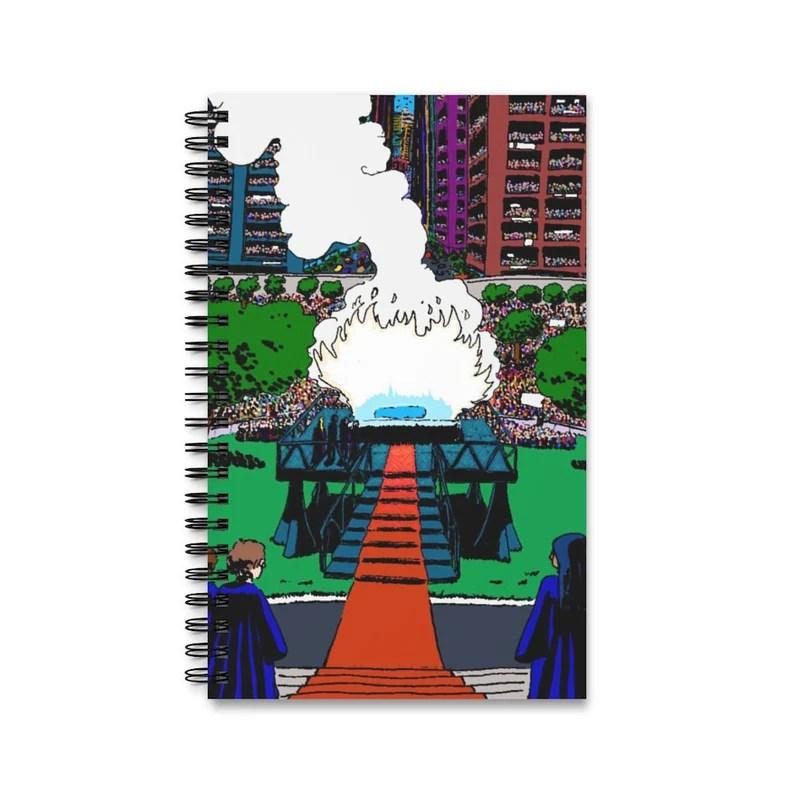Spiral Journal With Cool Art Cover 17  Retro custom gift imagem 0