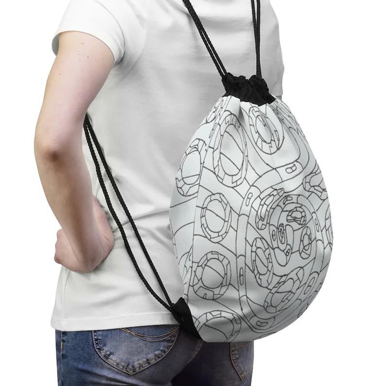 Cool Art Drawstring Bag 12  Retro custom gift aesthetic pop image 0