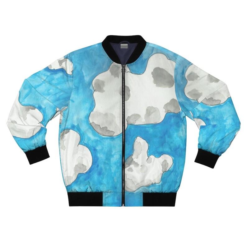 Cool Art Bomber Jacket 10  Retro custom gift aesthetic line image 0