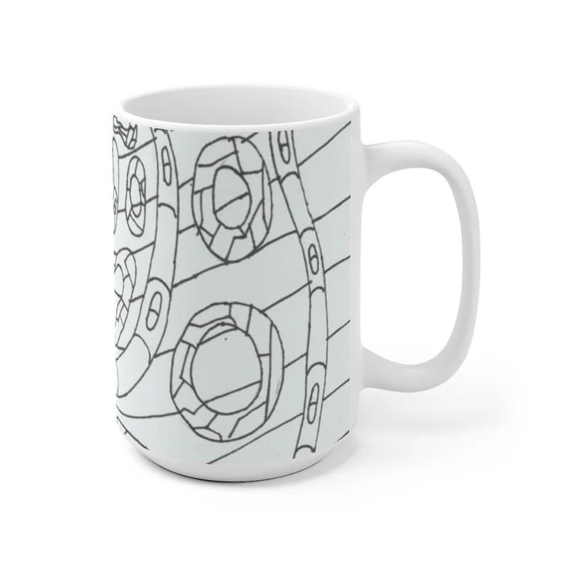 Cool Art Mug 2 sizes 11  Retro custom gift unique mugs with image 0