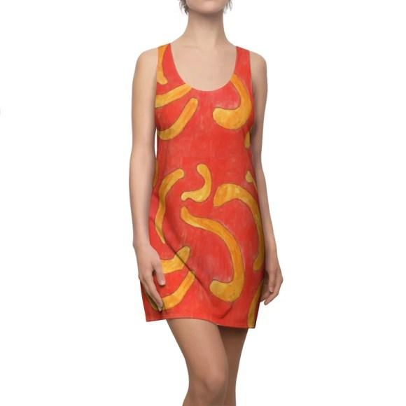 Cool Art Racerback Dress 6  Retro custom gift  dresses image 0