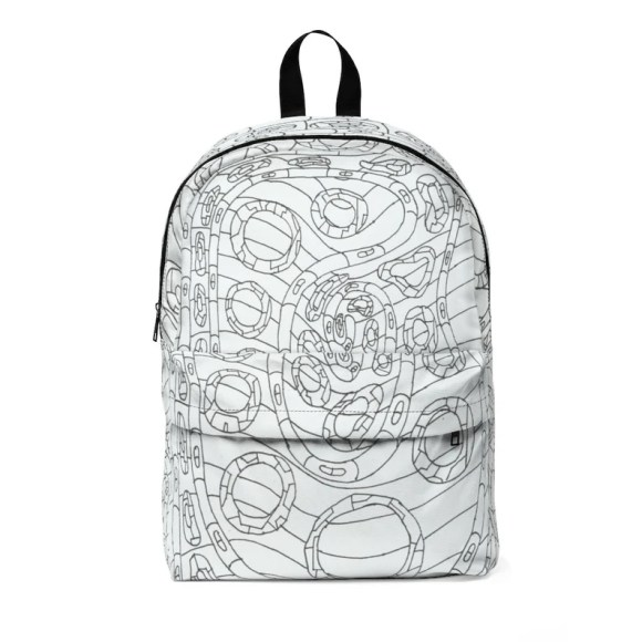Cool Art Large Backpack 8  Retro custom gift  backpacks mini image 0