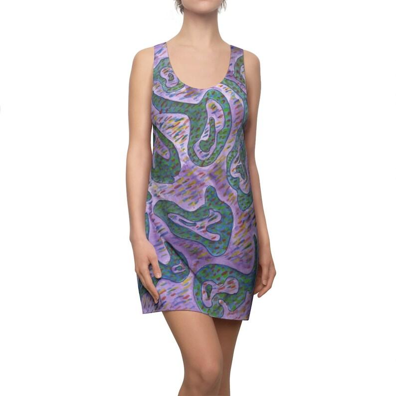 Cool Art Racerback Dress 11  Retro custom gift  dresses image 0