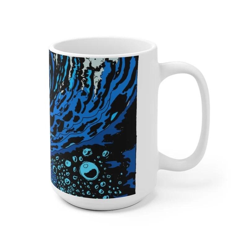 Cool Art Mug 2 sizes USA3  Retro custom gift unique mugs image 0