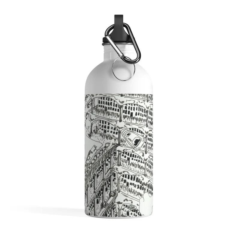Cool Art Water Bottle 17  Retro custom gift pop art line image 0