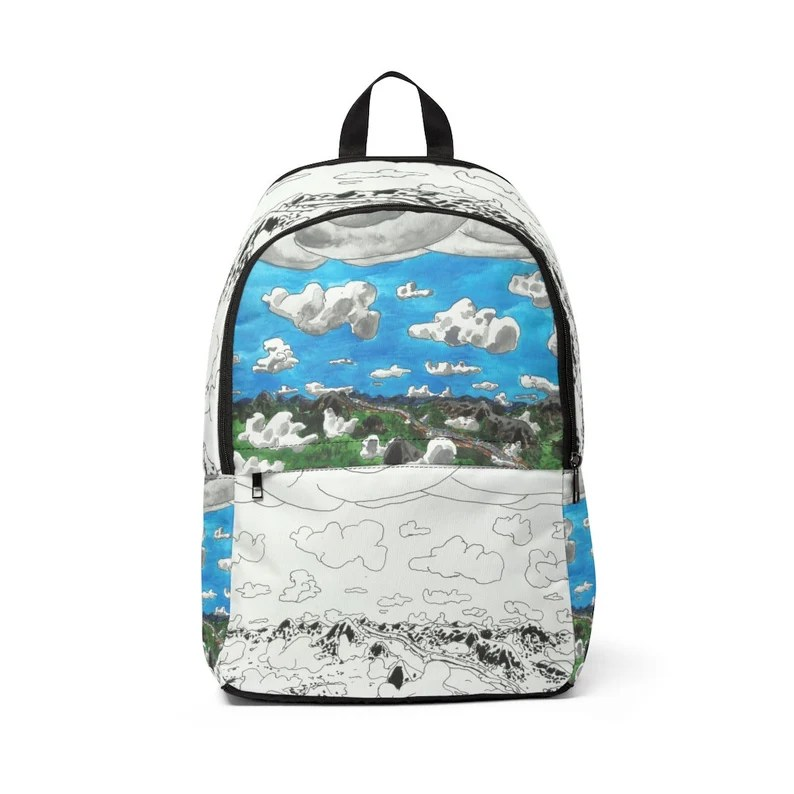 Urban Art Mid-sized Backpack 13  Retro custom gift image 0