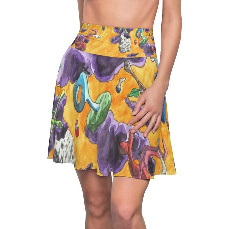 Cool Art Skater Skirt 6  Retro custom gift  skirts dresses image 0